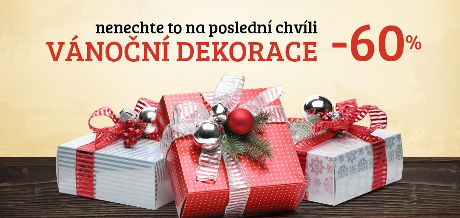 nenechte to na poslední chvíli, vánoční dekorace -60%