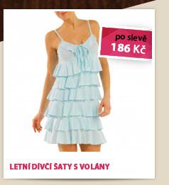 Letní dívčí šaty s volány